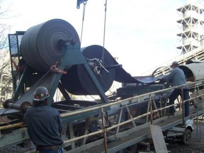 Установка ленты на конвейере с конвейера за час